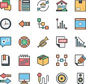 Networking, Web, User Interface and Internet Vector Icons 16