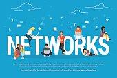 Networks concept illustration