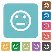 Neutral emoticon flat icons
