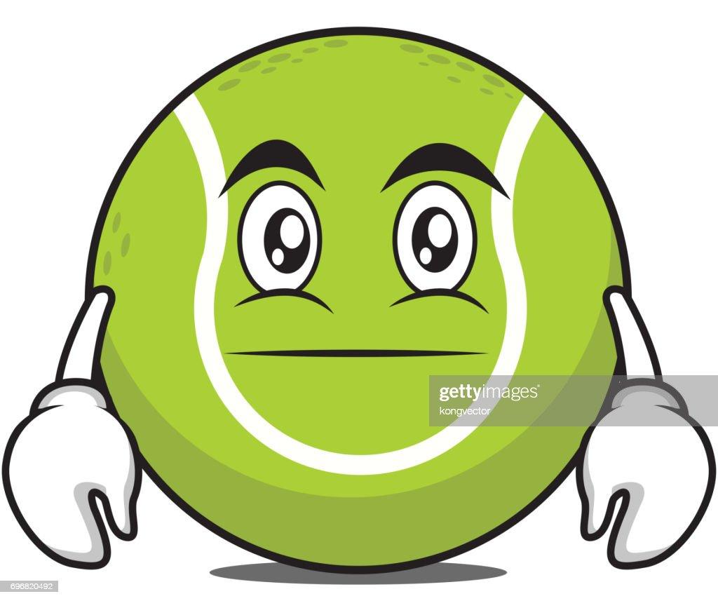 Neutral tennis ball character cartoon vector art