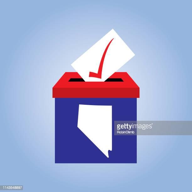 nevada ballot box icon - nevada stock illustrations