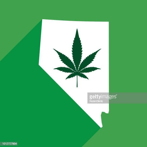 nevada marijuana map - nevada stock illustrations