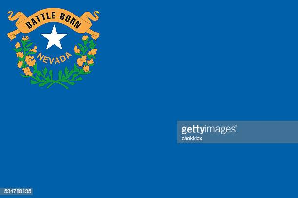 nevada state flag - nevada stock illustrations