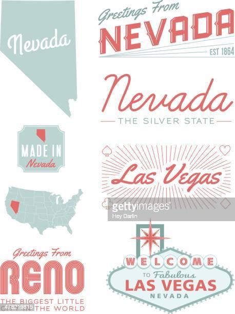 ネヴァダタイポグラフィー - ネバダ州点のイラスト素材/クリップアート素材/マンガ素材/アイコン素材