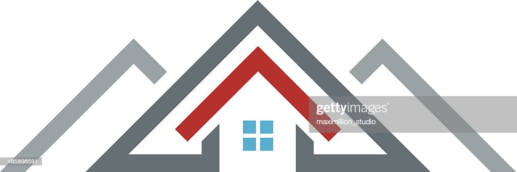 New age modern house real estate construction building logo icon