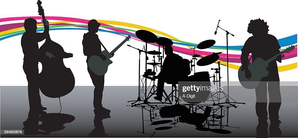 New Age Rock Band Music : stock illustration