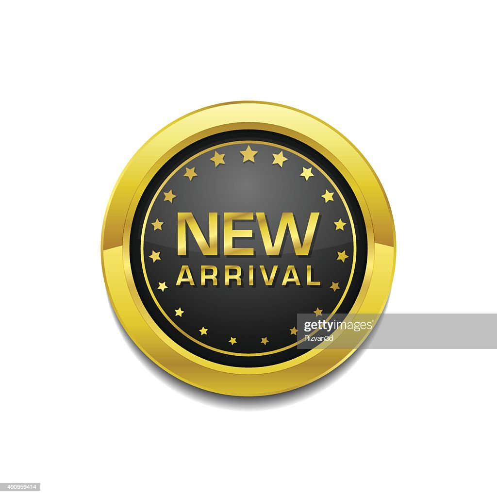 New Arrival Glossy Shiny Circular Vector Button
