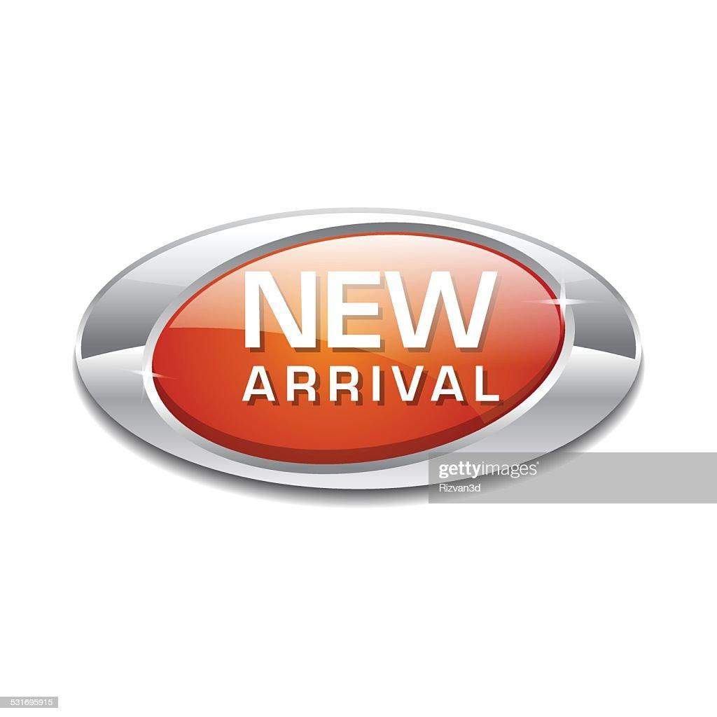New Arrival Orange Elliptical Vector Button