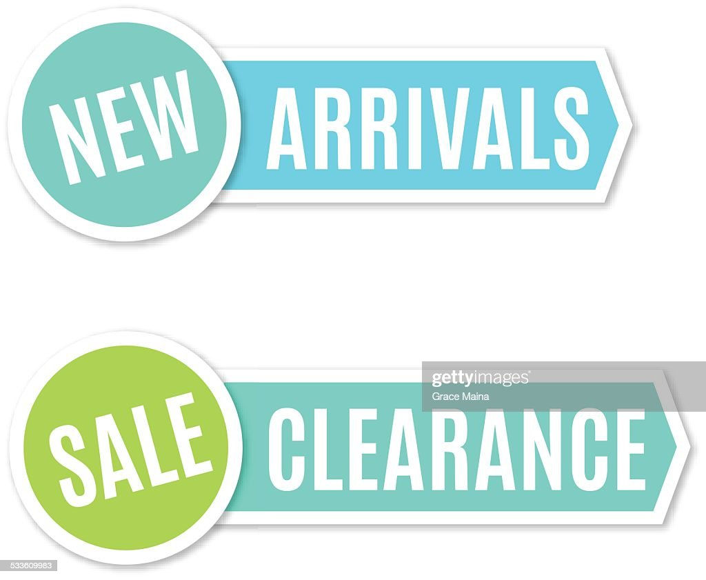 New arrivals and clearance sign - VECTOR : stock illustration