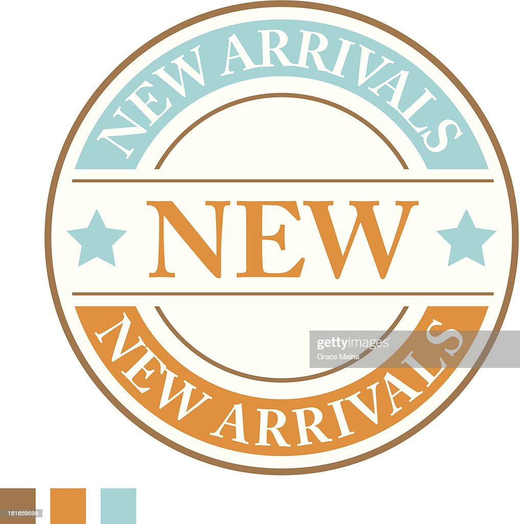 New arrivals sign - VECTOR