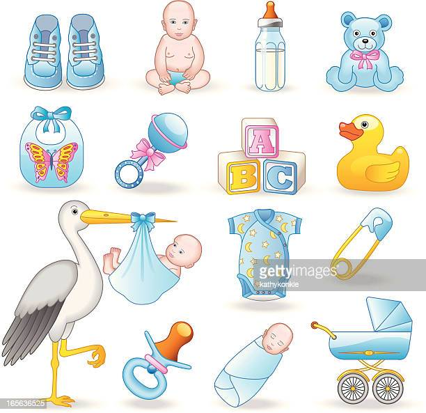new baby boy - baby blanket stock illustrations, clip art, cartoons, & icons