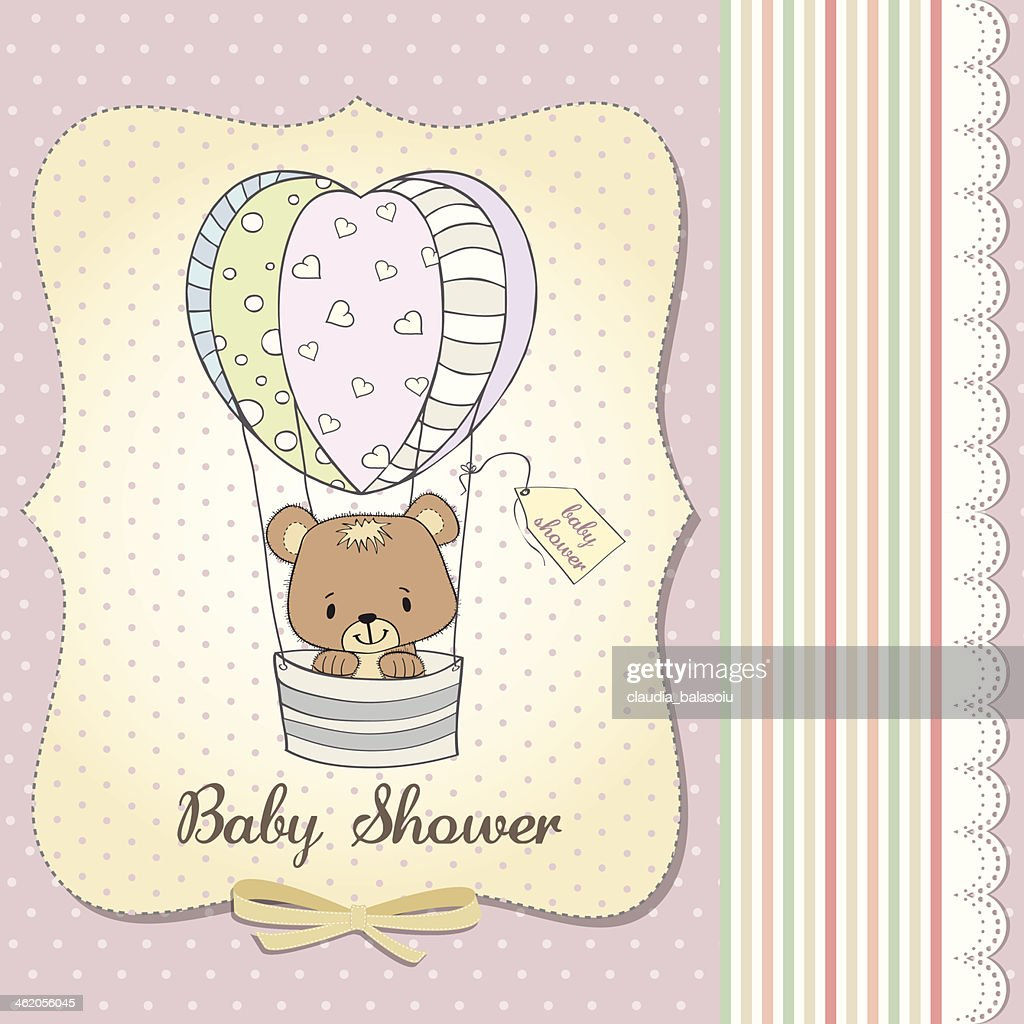 new baby girl announcement card vector art getty images