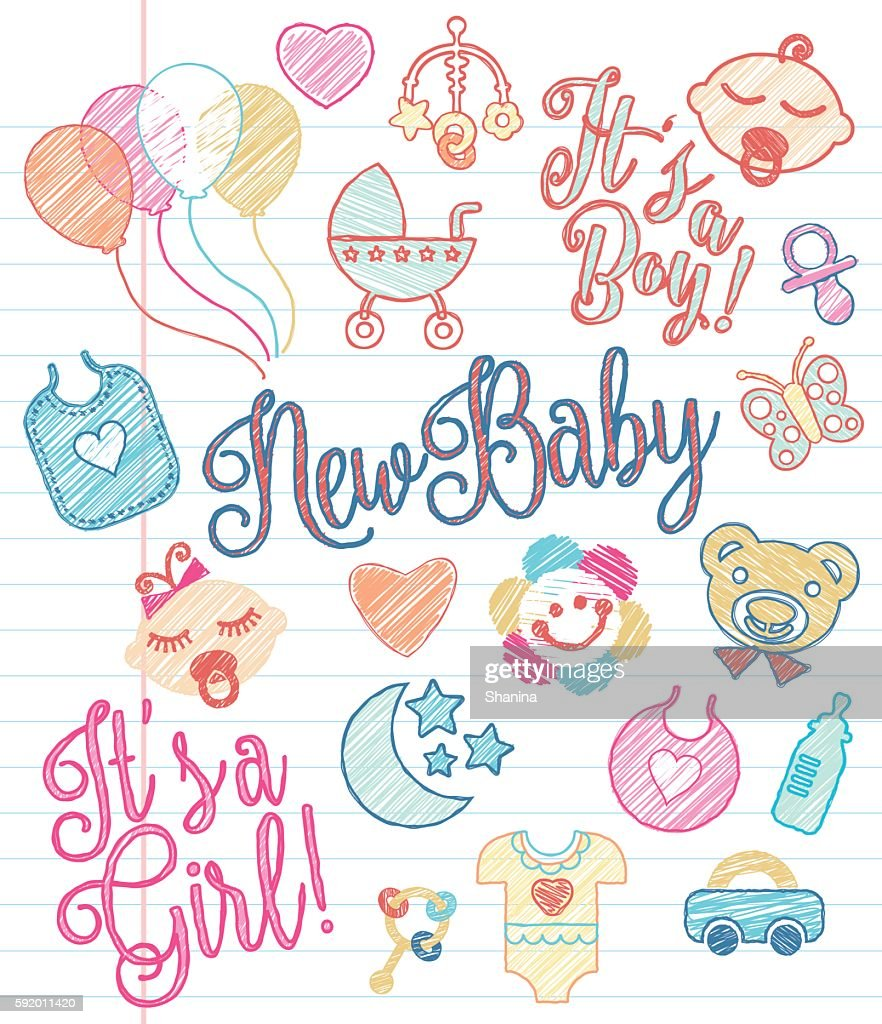 New Baby - Sketchy Icons