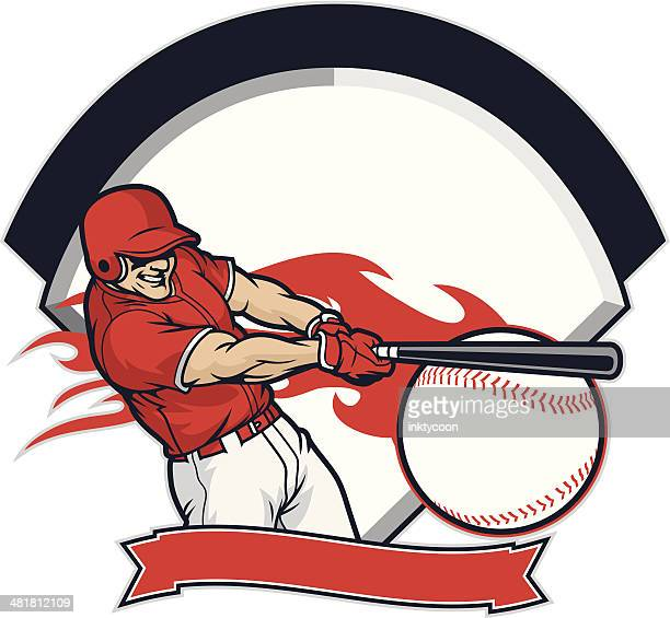 bildbanksillustrationer, clip art samt tecknat material och ikoner med new baseball player - basebollslag