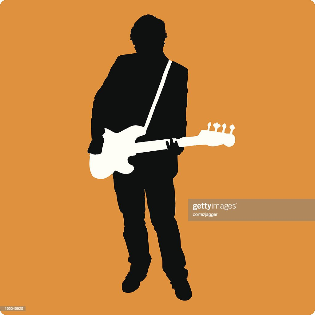 New Bassist Silhouette (vector illustration)