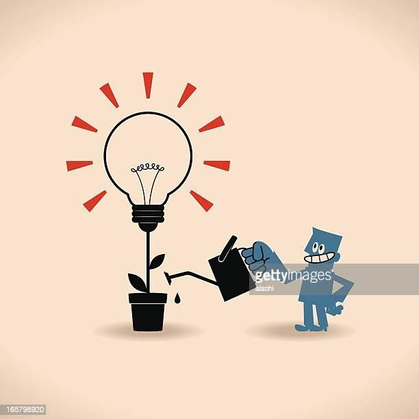 ilustraciones, imágenes clip art, dibujos animados e iconos de stock de nuevas ideas brillantes - encuadre de cuerpo entero
