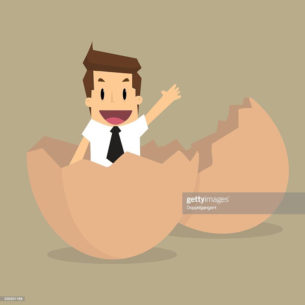 New Businessman on egg