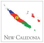 New Caledonia flag map