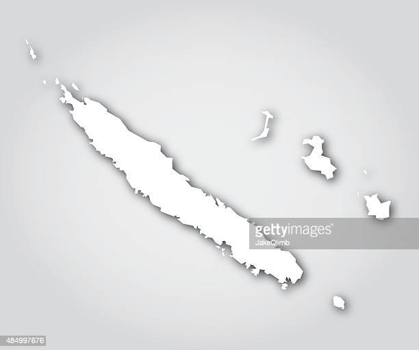 new caledonia silhouette white - new caledonia stock illustrations