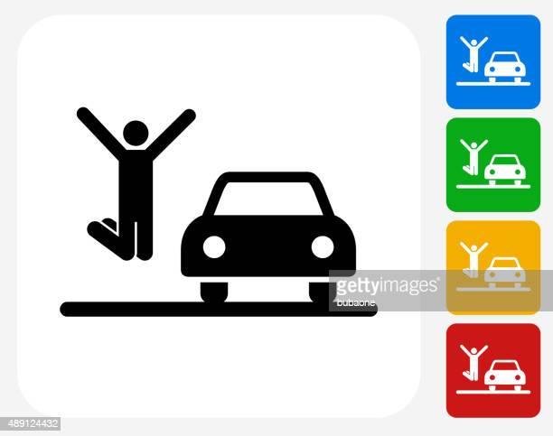 illustrations, cliparts, dessins animés et icônes de icône de voiture à la conception graphique - permis de conduire