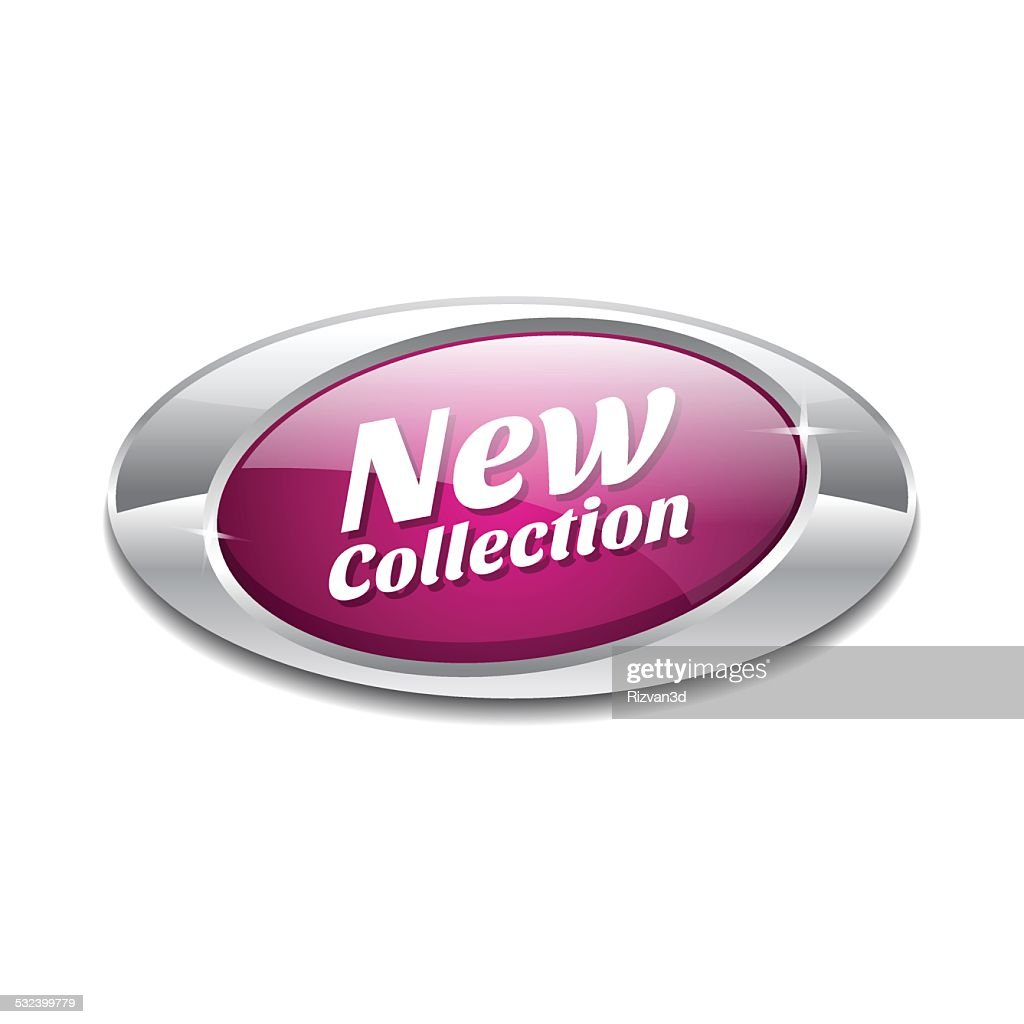 New Collection Pink Elliptical Vector Button