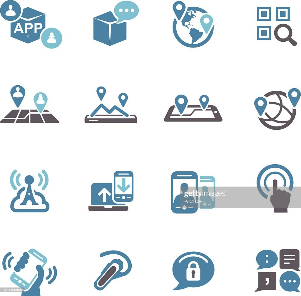 New Communication and Location Icons - Conc Series
