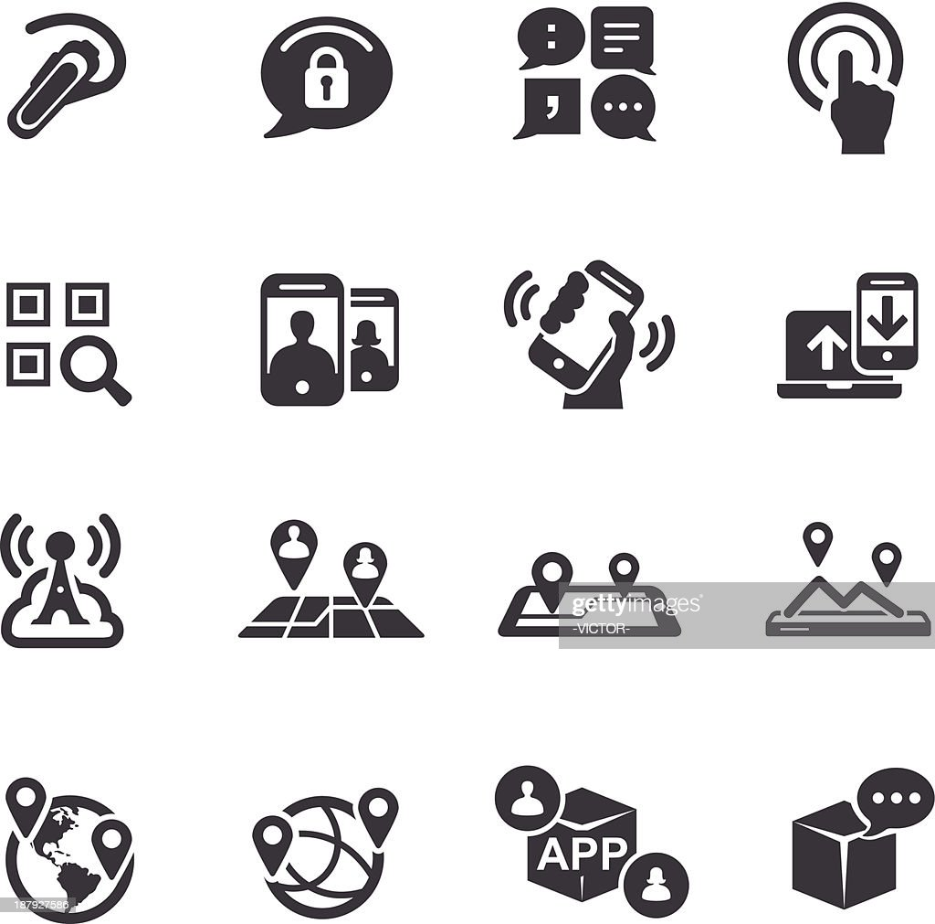 New Communication and Location-Icons-Acme Series