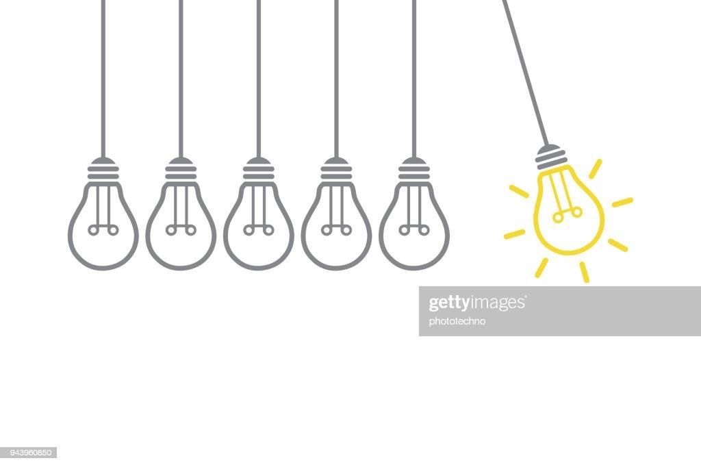 新しい創造的なアイデアのコンセプト : ストックイラストレーション