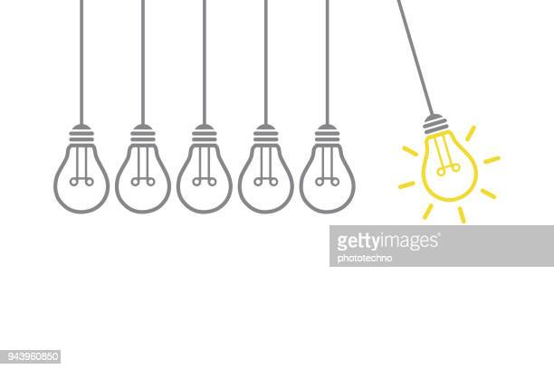 new creative idea concept - innovation stock illustrations
