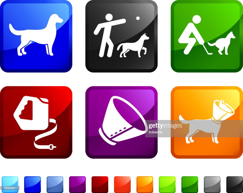 Neues Dog Training lizenzfreie vektor icon set Aufkleber : Stock-Illustration