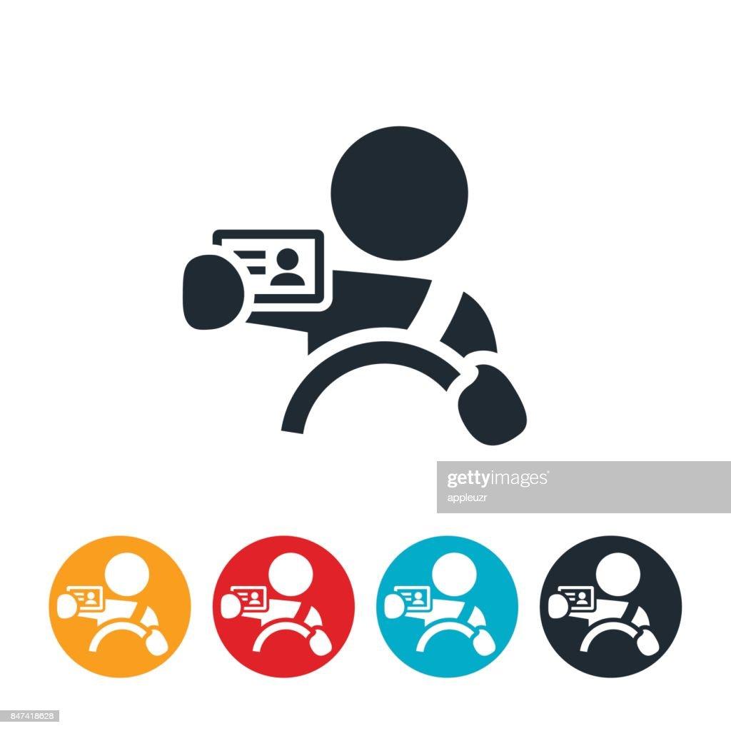 New Driver Icon : stock illustration