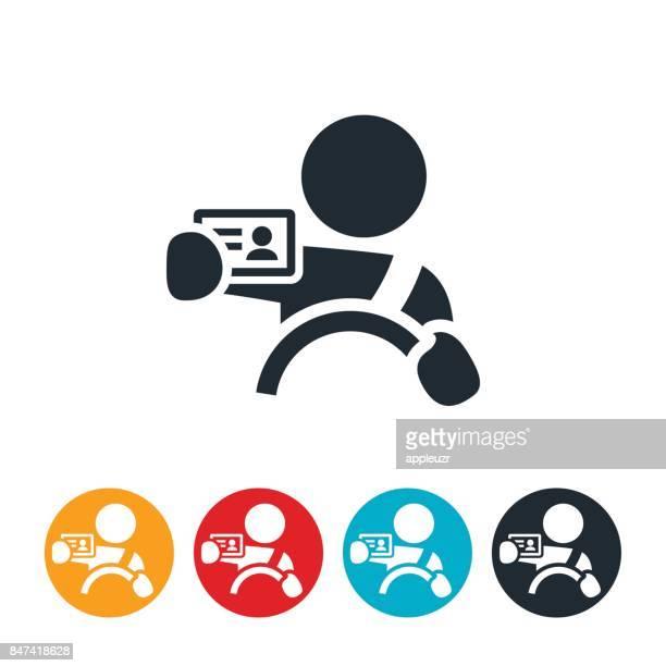 illustrations, cliparts, dessins animés et icônes de nouvelle icône du pilote - permis de conduire