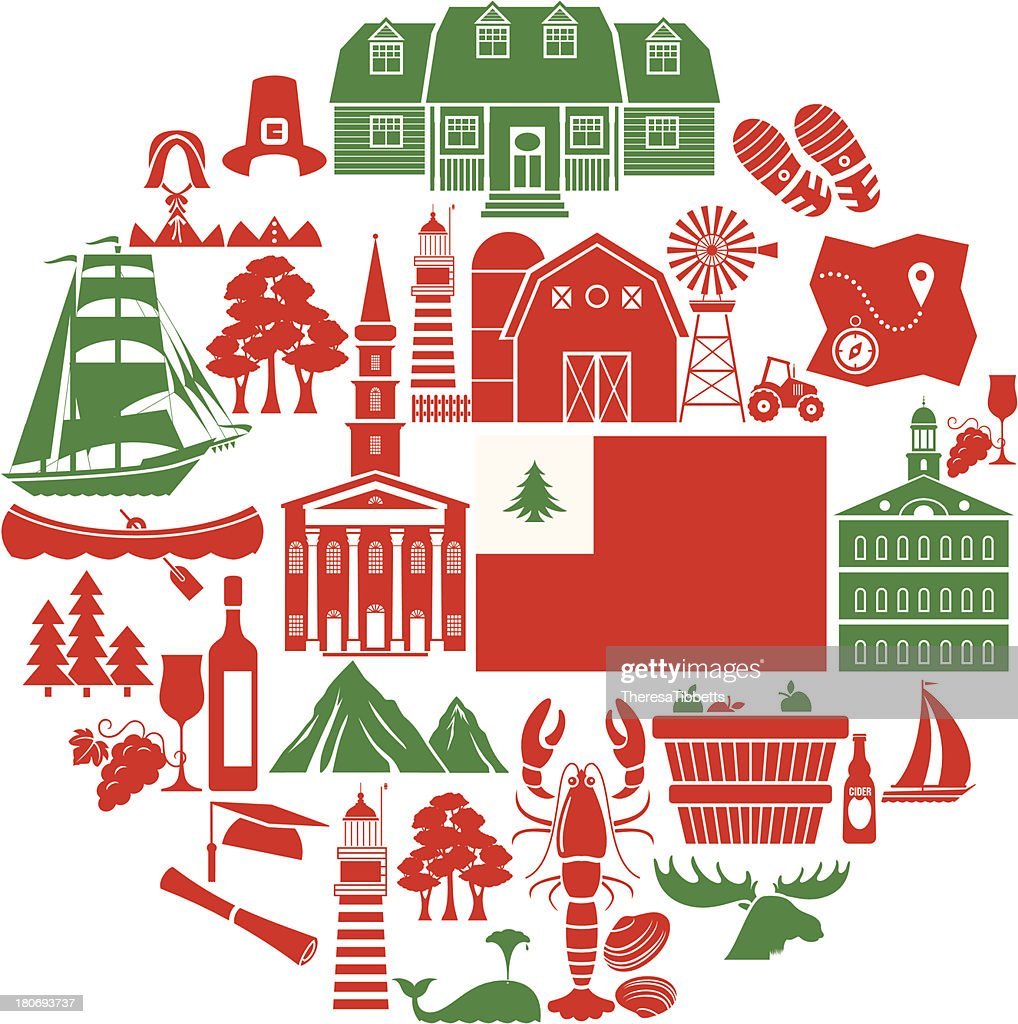 New England Icon Set
