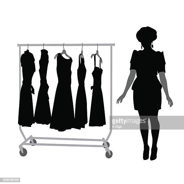 New Fashion And Clothes Silhouette Vector