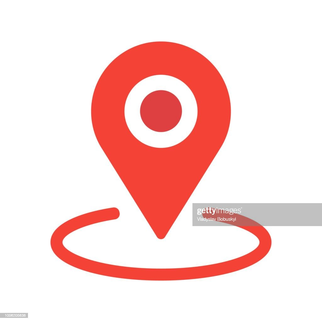 New flat design Location map icon, gps pointer mark Vector EPS 10