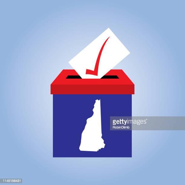 new hampshire ballot box icon - new hampshire stock illustrations