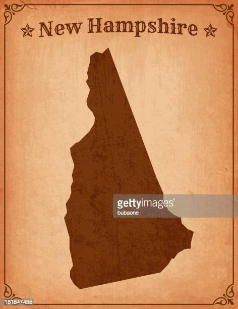 New Hampshire Grunge Map with Frame