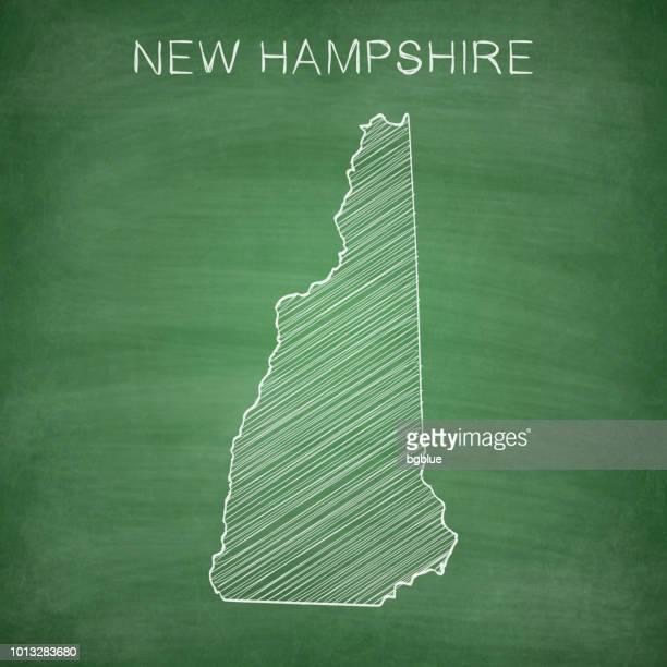 New Hampshire map drawn on chalkboard - Blackboard
