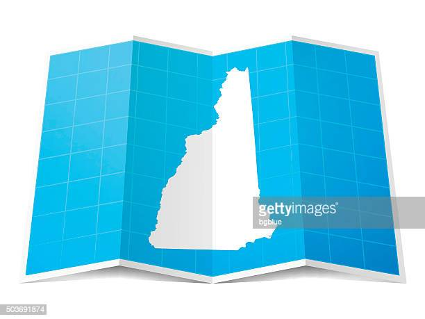 New Hampshire Map folded, isolated on white Background