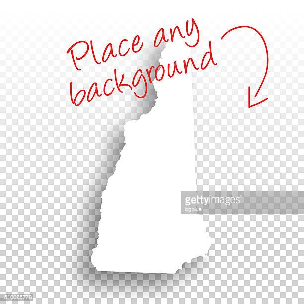 New Hampshire Map for design - Blank Background