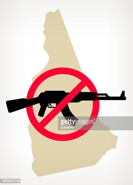 New Hampshire No Gun Violence Vector Poster