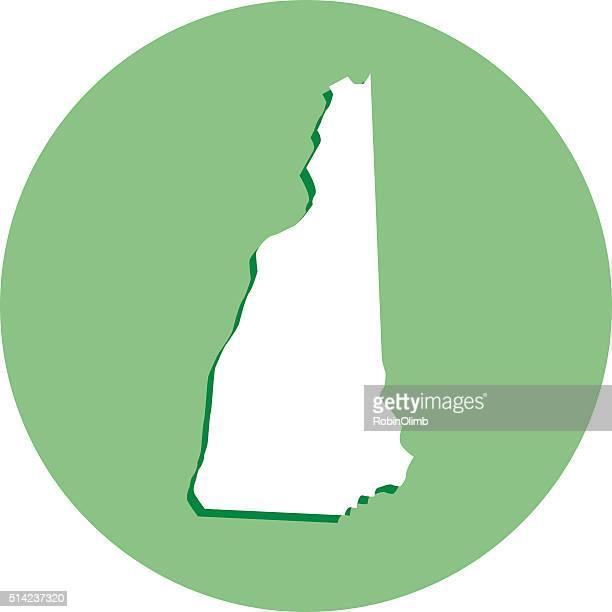 New Hampshire Round Map Icon