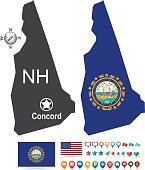 New Hampshire State Map Kit