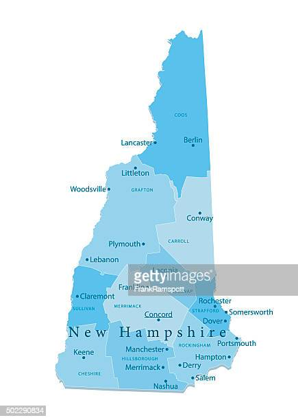 new hampshire vector map isolated - new hampshire stock illustrations