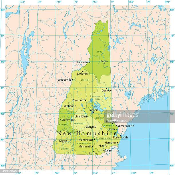 New Hampshire Vector Map