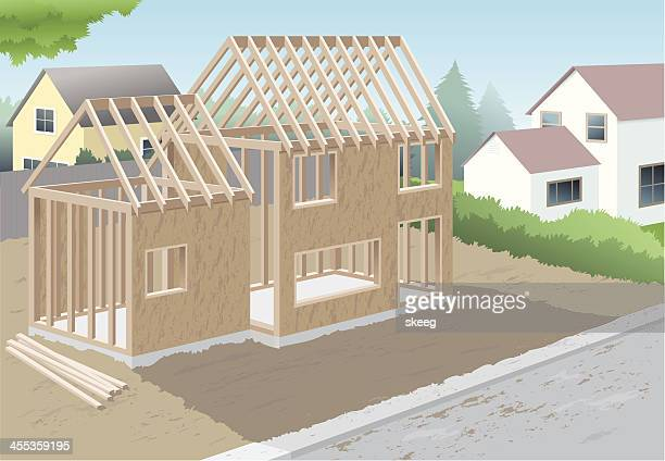 new home - foundation stock illustrations, clip art, cartoons, & icons