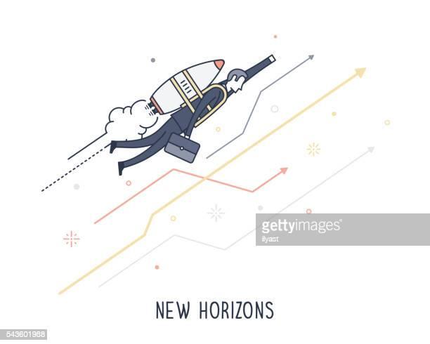 illustrations, cliparts, dessins animés et icônes de new horizons - profession supérieure ou intermédiaire