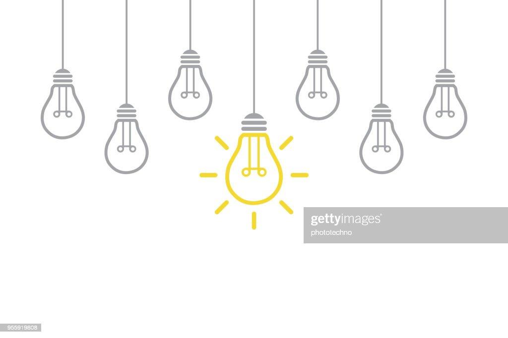 Neue Idee-Konzept mit Glühbirne : Stock-Illustration