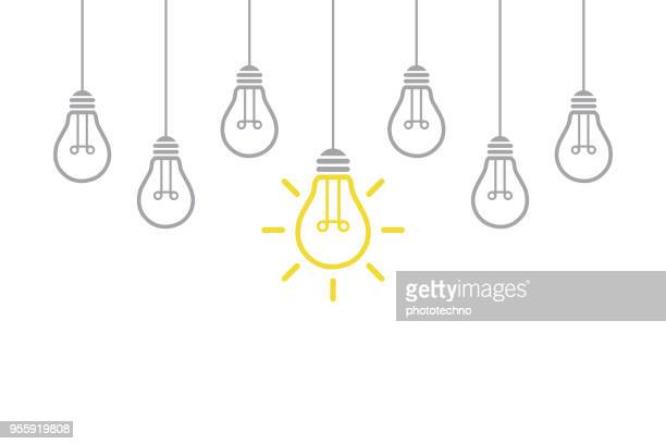 new idea concept with light bulb - ideas stock illustrations