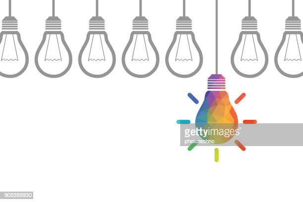 new idea concepts - innovation stock illustrations
